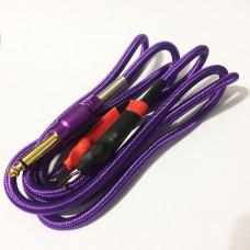Силиконовый клип-корд в тканевой оплётке (Фиолетовый)