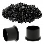 Чёрные тату капсы 100шт (средние 14мм)