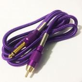 Силиконовый клип-корд в тканевой оплётке RCA (Фиолетовый)